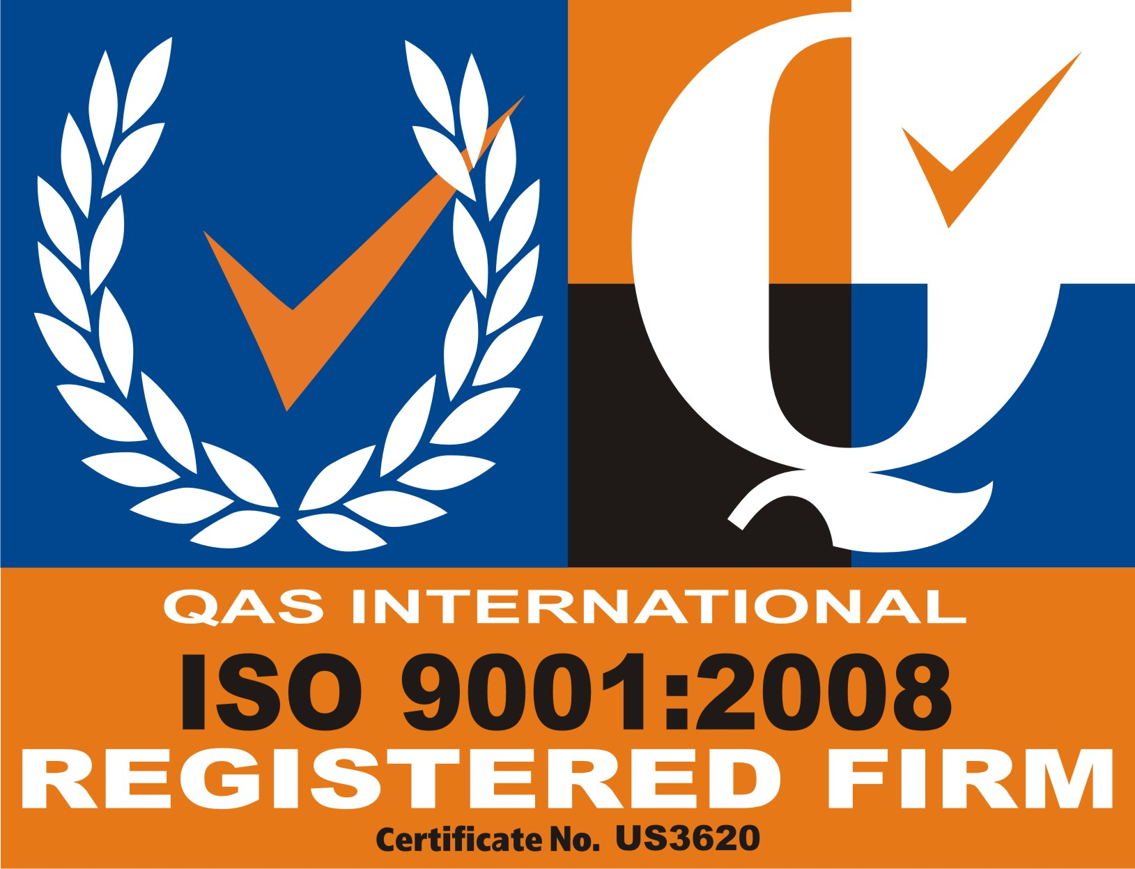 ISO QAS REGISTERED
